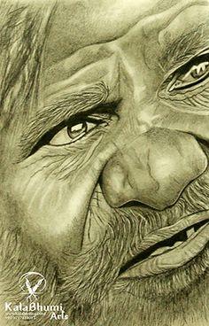 Charcoal Portrait by Kalabhumi Arts