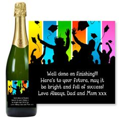 Graduation personalised champagne