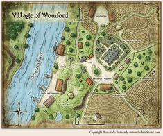 d&d village map Fantasy City Map, Fantasy Town, Fantasy Castle, Dungeons And Dragons 5e, Dungeons And Dragons Homebrew, Environment Map, Pathfinder Maps, Village Map, Map Layout