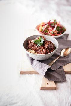 slow cooked mexican beef with root vegetable slaw//