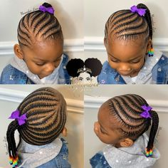 2020 Cute Braided Hairstyles for Pretty Kids Toddler Braided Hairstyles, Little Girl Braid Hairstyles, Toddler Braids, Braids Hairstyles Pictures, Black Kids Hairstyles, Baby Girl Hairstyles, Braids For Kids, Kids Braids With Beads, Girls Braids