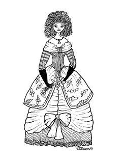 Karens Kravlenisser. Cut-outs and Colouring Pages. : Princesses to Print and Colour. Prinsesser til at printe og farvelægge.