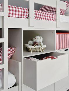 Blog de Decoração Perfeita Ordem: Quarto com beliche para um casal de irmãos de 9 e 11 anos