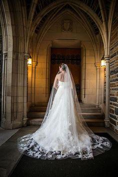Tendance Robe du mariée  2017/2018  A classic strapless Vera Wang wedding dress with a dramatic detailed veil | Bri