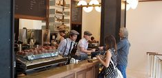 A coffee shop with Dandy Baristas - Stumptown Coffee (picture from the Manhattan Location in Ace Hotel)