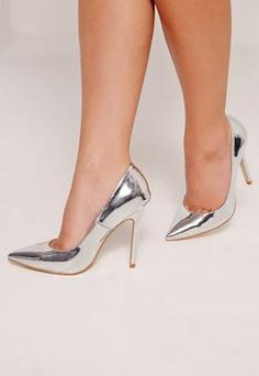 Silver Mirrored Pumps