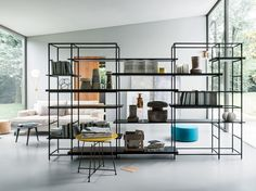 Download the catalogue and request prices of Plain by Lema, sectional metal bookcase design Francesco Rota