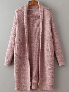 To find out about the Pink Shawl Collar Drop Shoulder Long Sweater Coat at SHEIN, part of our latest Sweaters ready to shop online today! Pink Shawl, Pink Cardigan, Cocoon Cardigan, Sweater Cardigan, Long Sweater Coat, Long Sweaters, Knitted Coat, Look Fashion
