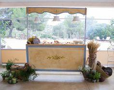 Kiosco provenzal para bodas. Alquiler de carritos, kioscos y buffets para bodas. www