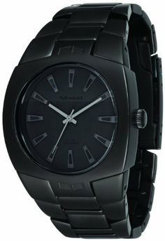 Vestal Men's GHD001 Gearhead All Matte Black Ion-Plated Watch Vestal. Save 39 Off!. $85.00. Matte black ion-plated stainless steel case and band. Tapered band and hidden pusher clasp gives the gearhead a comfortable fit.. 316L stainless steel case: the highest grade of stainless steel for water resistance, strength and non-corrosion in a marine environment. Murdered-out large watch with a flat black dial. Water-resistant to 330 feet (100 M)