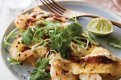 Pan-seared gurnard with roast red pepper salsa Omelette Recipe, Meat Recipes, Asian Recipes, Cooking Recipes, Healthy Recipes, Red Pepper Salsa Recipe, Gluten Free Chilli, Fried Shallots