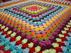 Granny Blanket Rainbow Crochet Granny Square by Thesunroomuk, £65.00