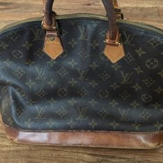 Authentic Louis Vuitton Alma (bag 1) There's wear on the bag but it's still in good shape. One noticeable imperfection (pictured). Additional photos in my closet. NO TRADES Louis Vuitton Bags