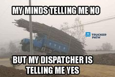 End boredom at work and make things extra exciting and fun with this funny truck driver meme collection. Truck Driver Meme, Truck Memes, Car Memes, Car Humor, Road Rage Humor, Trucker Quotes, Big Rig Trucks, Dump Trucks, Custom Big Rigs