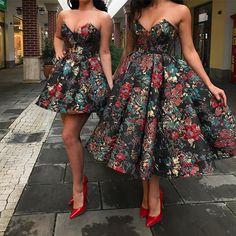 Haute couture fabric by Sahsa Tekstil. Unique Prom Dresses, Elegant Dresses, Pretty Dresses, Homecoming Dresses, Beautiful Dresses, Bridesmaid Dresses, Formal Dresses, African Fashion Dresses, African Attire