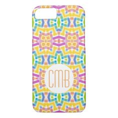 Custom Modern Trendy Kaleidoscope Mosaic Pattern iPhone 8/7 Case - cool gift idea unique present special diy
