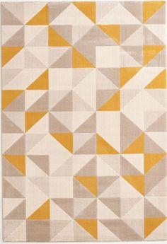 Teppiche Teppich Webteppich preiswert Modern Design Dreieck Dreiecke gelb grau  in Möbel & Wohnen, Teppiche & Teppichböden, Teppiche | eBay!