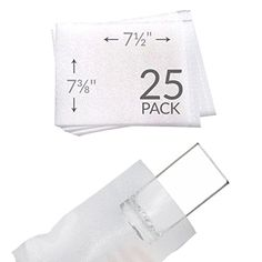 """UBOXES 7 3/8""""x 7 1/2"""" Foam Wrap Cup Pouches Protect Dishes and Fragile Items Moving (25 Pack)  Foam Wrap Pouches for Bowls  protection for your precious china, wine glasses, photo frames or fragile items. Foam is non-abrasive, clean, and leaves no residue.  Qty: 25 Size: 7 3/8 x 7 1/2-inches  3/32"""" thick polyethylene foam.  High Quality - Satisfaction Guaranteed - Transit time is approximately 1-2 business days - UBOXES is #1 source for Moving Boxes & Supplies Online - Moving Kits avai..."""