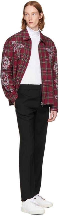 Stella McCartney - Red Embroidered Plaid Jacket