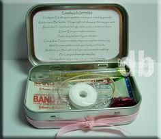 Everyday Life Survival kit, I lovr the little note and think these would make great favors