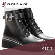 Michael Kors vivia combat boots Black combat boots sz7 Michael Kors Shoes Combat & Moto Boots