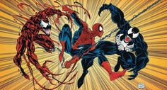 Marvel Comics Carnage, venom, and spiderman Marvel Vs, Marvel Comics, Marvel Heroes, Comic Book Characters, Comic Book Heroes, Marvel Characters, Comic Books, Venom Comics, Venom Movie