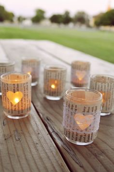 Tea Light Candles & Lace / Book Page Holders $27