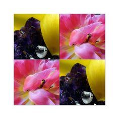 """'Viererbild """"Kristall und Blüten"""" pp' von Rudolf Büttner bei artflakes.com als Poster oder Kunstdruck $20.10"""