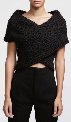 Cross my heart wrap sweater