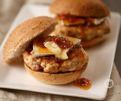 Jalapeno Brie Burgers. Use Sweet Pepper Jalapeno Jam and Onion Onion. Wow! These are amazing! Made with a little sweet and spice and topped off with delicious cheese.