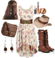 Country western outfits, robes country, country wear, country girl style, c Country Style Outfits, Country Girl Style, Country Fashion, Country Girl Dresses, Southern Style, Country Outfits For Women, Country Western Outfits, Robes Country, Country Wear