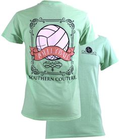Kleider SALE Southern Couture Preppy Vintage Volleyball Sports Girlie Bright T Shirt Volleyball Shirts, Volleyball Shirt Designs, Volleyball Outfits, Volleyball Mom, Softball, Volleyball Tournaments, Volleyball Training, Soccer, Volleyball Pictures