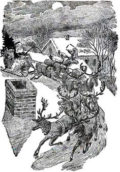 Christmas - Up On The Roof There Arose Such A Clatter - Santa - Vintage Image. , via Etsy. Christmas Poems, All Things Christmas, Anonymous Book, Poetry For Kids, Best Poems, Kids Poems, Rhymes For Kids, Santa Claus Is Coming To Town, Christmas Gift Decorations