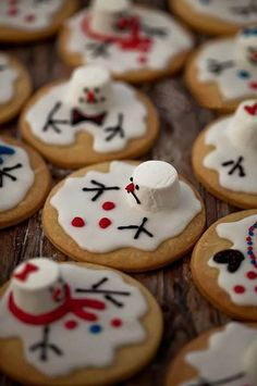 Melted Snowman Cookies!!