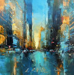 Buy N.Y Original artwork, Painting by Benoit Havard (France) www. Buy N.Y Original artwork, Painting by Benoit Havard (France) www. Abstract City, Abstract Landscape, Landscape Paintings, City Painting, Painting Canvas, Contemporary Abstract Art, Acrylic Art, Art Auction, American Art