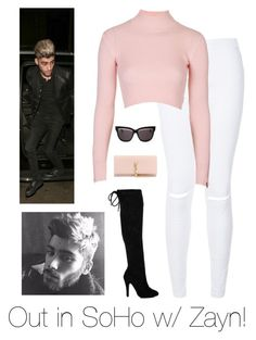 """""""Out in SoHo w/ Zayn!"""" by ayeeitsjaney ❤ liked on Polyvore featuring New Look, Topshop, Yves Saint Laurent, Christian Dior, zayn, zaynmalik, soho and gigihadid"""