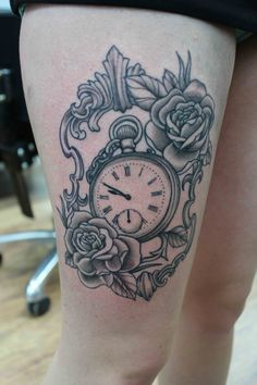 28 Best Pocket Watch Tattoo Designs Images Pocket Watch Tattoo