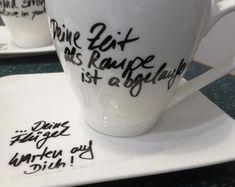 Lieblings-Produkte für Jedermann von DieKreativschmiede auf Etsy #handmade, #porzellan, #personalisiert, #individuellegeschenke Mugs, Tableware, Etsy, Craft Gifts, Products, Dinnerware, Tumblers, Tablewares, Mug