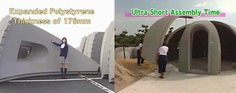 Construction of the Dome House shell is quick and easy. The prefabricated pieces, which each weigh about 80 kilograms (175 lbs), can be carried by 2 or 3 people and assembled in a few hours. Once the shell is put together, coats of mortar and paint are applied for further protection from the elements. (Watch a short video of the assembly process.)    Measuring 7.7 meters (25 ft) wide and 3.85 meters (13 ft) tall, the basic Dome House has a floor space of 44.2 square meters (475 sq ft). It is…