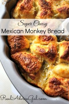 Super cheesy, a little spicy, and a lot of yummy, try this Mexican Monkey Bread Easy Recipe!