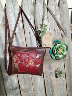 Whimsical Flower Cross Body Pouch by refindoriginals on Etsy, $89.00