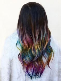 The Rainbow Hair Artist on Old balayage. New rainbow Why not embrace the grow out here is another shot of this awesome rainbow from last week Love it Pretty Hair Color, Hair Dye Colors, Kids Hair Color, Change Hair Color, Dream Hair, Hair Art, Balayage Hair, Pretty Hairstyles, Hairstyle Ideas