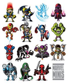 MARVEL COMICS MINIS on Behance