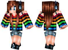 Download: http://minecrafteon.com/rainbow-teen-girl-minecraft-skin/