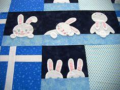 Rabbit quilt how adorable!