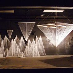 Sights and Strangers: Yarn triangles, Jordan Greene