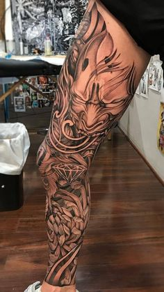 Pin by beautiful tattoos and more on maori tattoos Tattoos Bein, Full Leg Tattoos, Black Tattoos, Tattoos For Guys, Tatoos, Leg Sleeve Tattoo, Leg Tattoo Men, Tattoo Sleeve Designs, Tattoo Designs Men