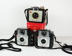 Kodak Brownie Cameras  Set of 3  Brownie by 2goodponiesvintage