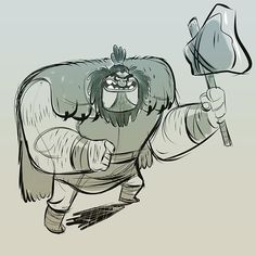 Here's a Barbarian based on animal from the Muppets #animal #muppets #drawing #barbarian #artist #art #drawingoftheday #sketch #digitalart
