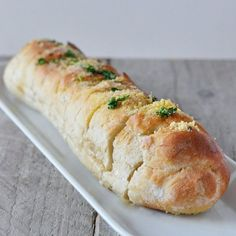 Garlic baguette with herbs. Delicious with soup, as an appetizer or at a brunch